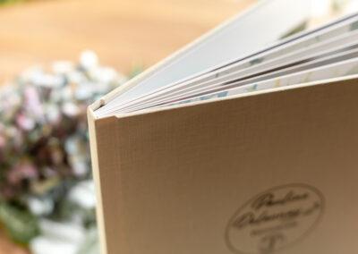 Couverture lin Livre photo luxe mariage - 30x30 - Pauline Delaunay Photographie 2