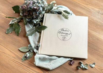 Couverture lin Livre photo luxe mariage - 30x30 - Pauline Delaunay Photographie 3