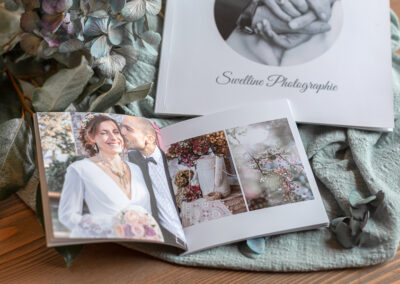 Livres photos souples mariage 22x22 et 13x13 - Pauline Delaunay Photographie