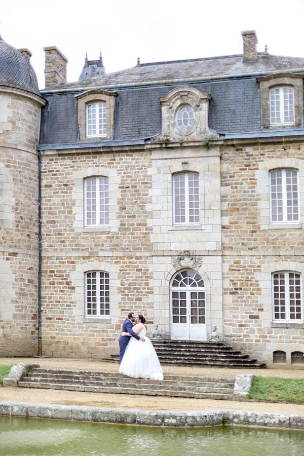 photo de couple au chateau de Rosanbo