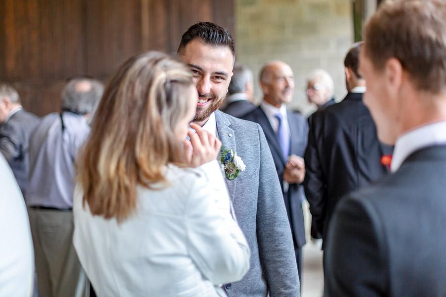 La joie des invités du mariage