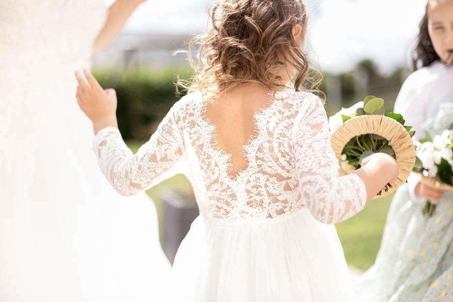 Tenue mariage enfant dentelle