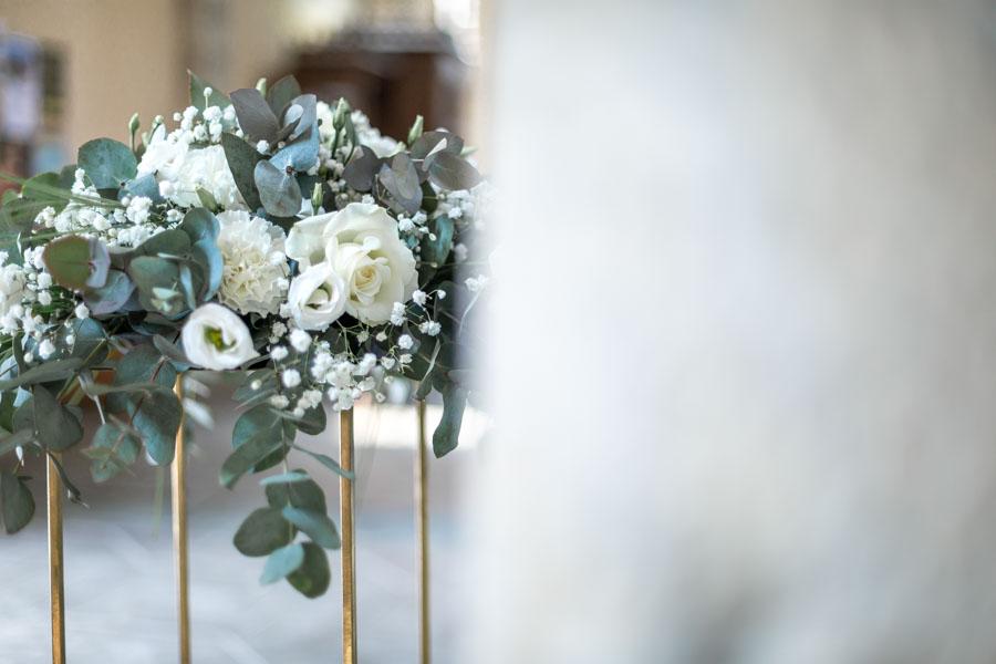 Décoration florale mariage église de lanmeur