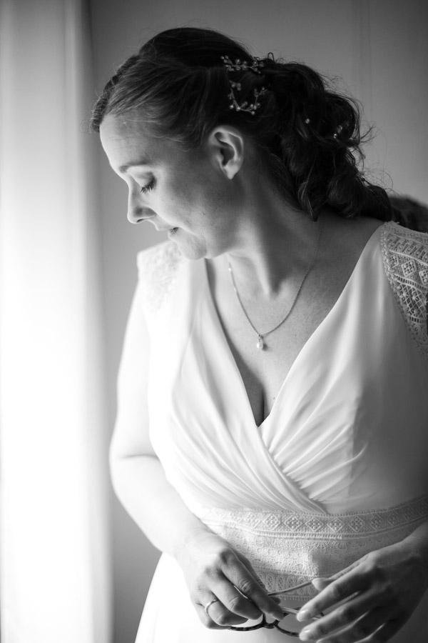 Préparation de la mariée robe plestin les grèves