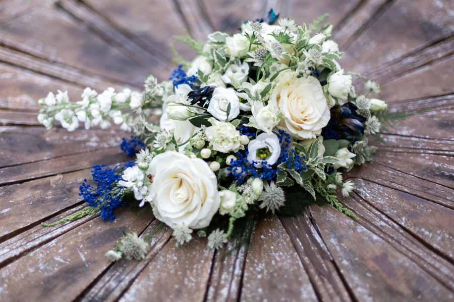 Bouquet de la mariée décors bois et champêtre plestin les greves