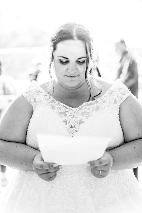 lecture lettre intime par la mariée chateau de Rosanbo Lanvellec